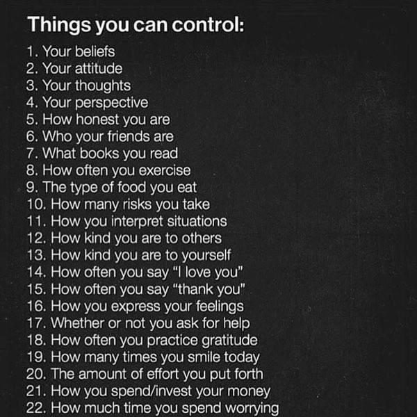Things You Can Control - sq